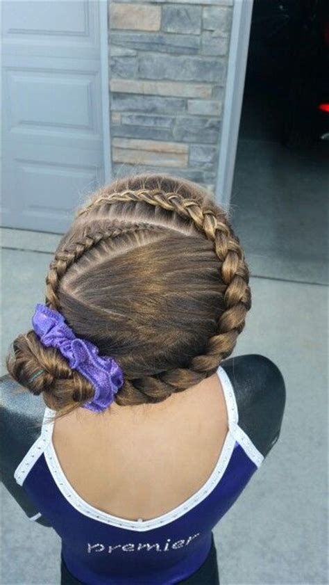 how to wear short hair for gymnastic meet 25 best ideas about gymnastics hairstyles on pinterest