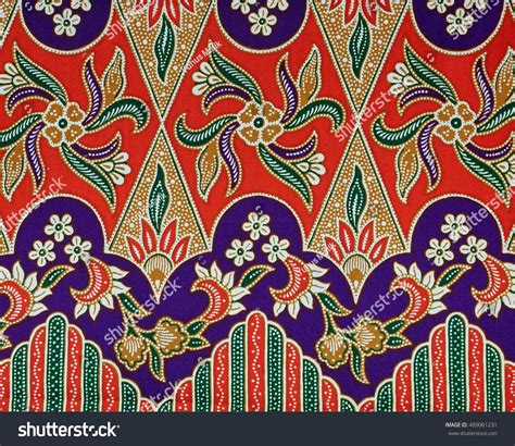 indonesian batik design pattern beautiful art malaysian indonesian batik pattern stock