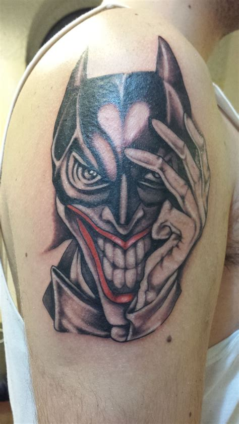 joker batman tattoo designs batman joker tattoo geekitude pinterest tattoo