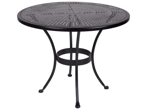 Bistro Table With Umbrella by Ow Bistro Wrought Iron Sted 36 Table With