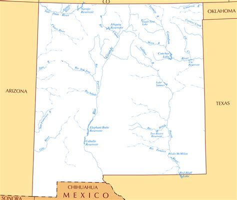 map of rivers in mexico image gallery new mexico rivers