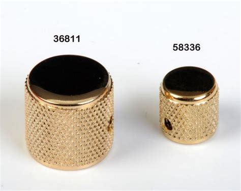 Tele Knobs by Fender Precision Bass Telecaster Knob Gold Knurled