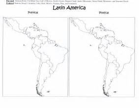 Latin America Blank Map by Mrs Davis Social Studies Class Home