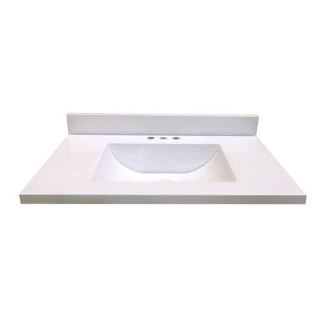 Vanity Tops And Bowls by Woodnote Kitchens And Baths 31 In W X 19 In D White
