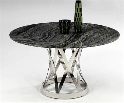 modern marble table l shiny marble top and chrome plate spiral outline