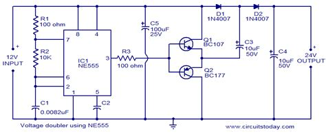 voltage doubler integrated circuit 555 timer circuit page 12 other circuits next gr