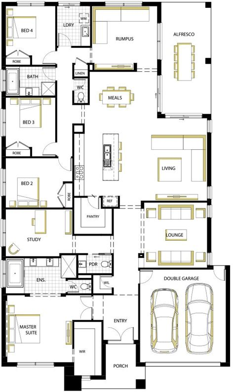 2823 Best Planos De Casa Images On Pinterest Floor Plans 4 Bedroom House Designs Australia