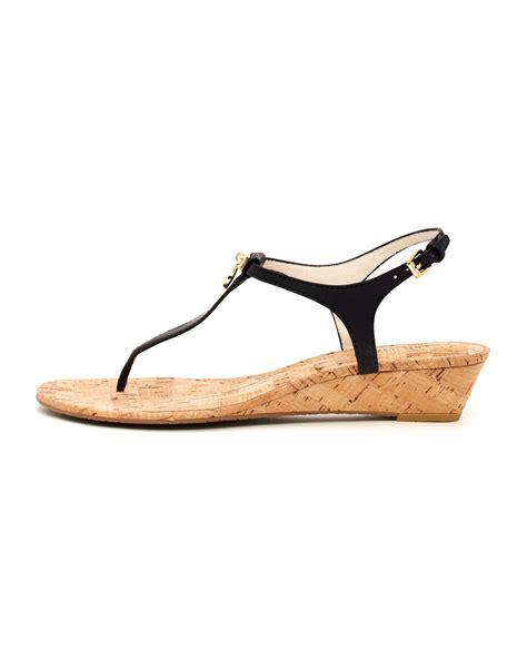 michael kors sandals for michael kors hamilton cork sandal in black lyst