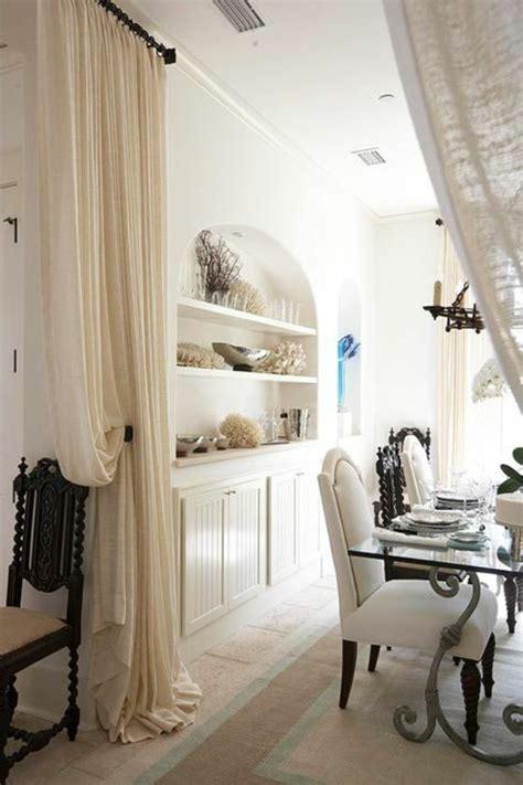 Bien Rideau Separation Cuisine Salon #1: cloison-amovible-leroy-merlin-rideau-separer-la-cuisine-avec-rideua-beige.jpg