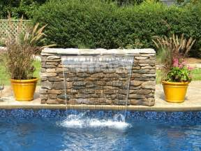 diy pool waterfall sheer descent waterfall into swimming pool water features pinterest swimming pools