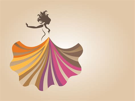 fashion skirt backgrounds presnetation ppt backgrounds
