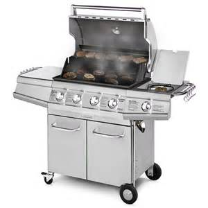 Backyard Grill Stainless Steel 4 Burner Brinkmann 48 000 Btu 4 Burner Gas Grill With Side Burner