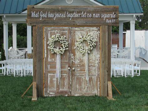 Rustic Wedding Doors rent @ Rusted Root Rentals. Amazing