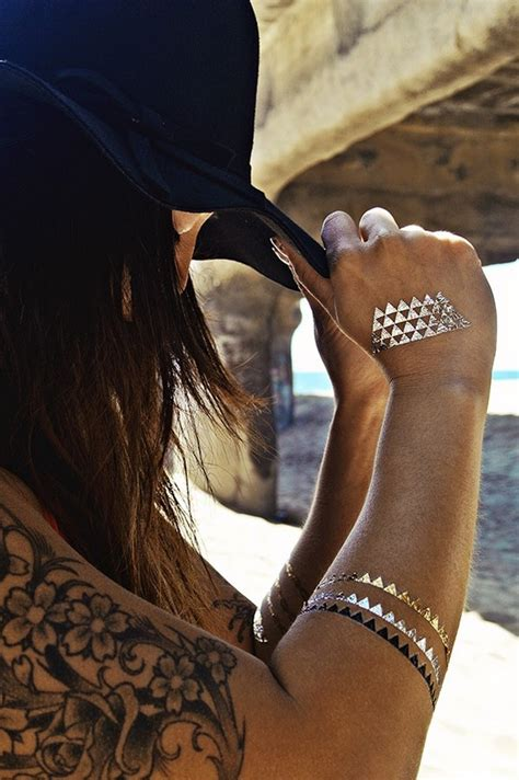 hot tattoo trends summer trend sexy golden temporary tattoos fashion corner