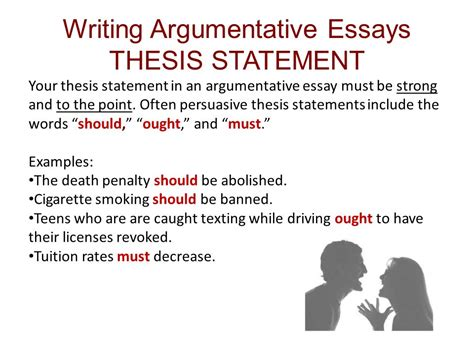 5 thesis statement argumentative essay case statement 2017