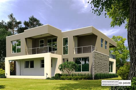 4 bedroom modern house 4 bedroom modern house plan id 24509 house plans by