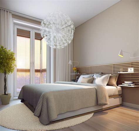 moderne schlafzimmer ideen modernes schlafzimmer creme wandfarbe und holzlatten