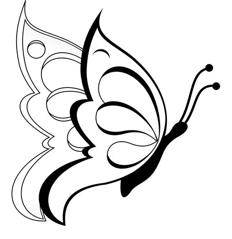 black and white coloring pages of butterflies butterfly clipart butterfly 19 black white line art