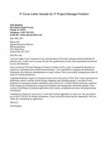 Cover Letter For It Resume by Cover Letter Program Manager Cover Letter Writing A