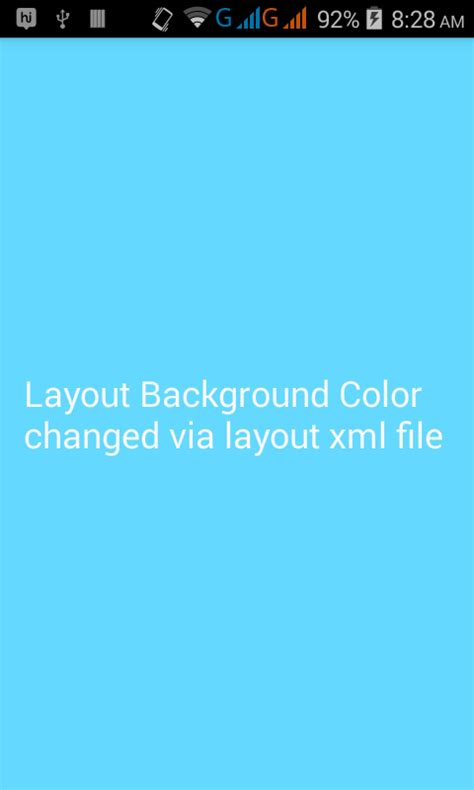 set complete layout background color  android xml