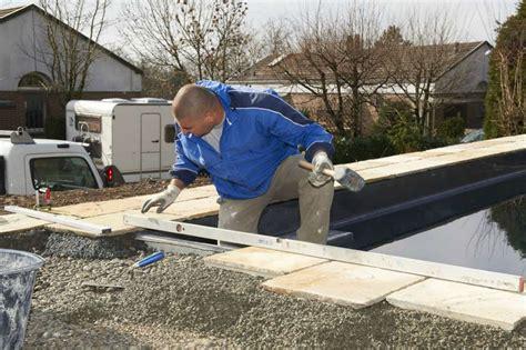 ideen poolumrandung poolumrandung granit verlegen mischungsverh 228 ltnis zement