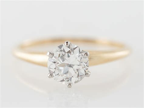 vintage tiffany co diamond solitaire engagement ring