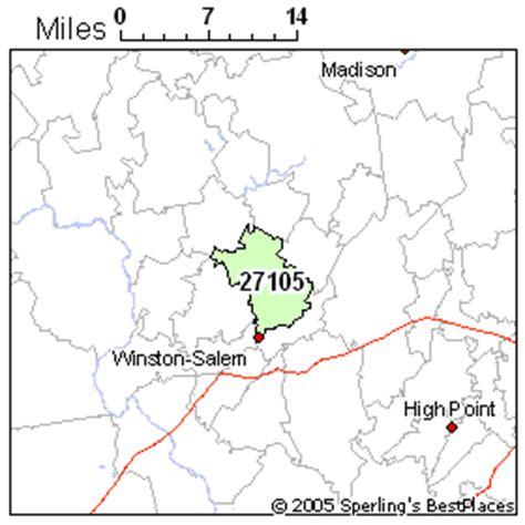zip code map winston salem best place to live in winston salem zip 27105 north