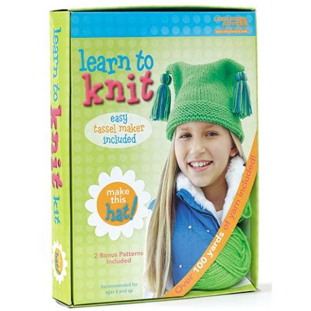 learn to knit kit learn to knit hat kit leisurearts