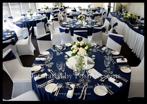 silver wedding table navy blue and white wedding table decorations