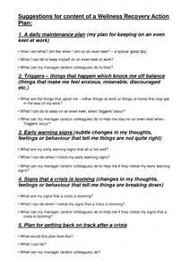 9 Wellness Recovery Action Plan Exles Pdf Wellness Plan Template