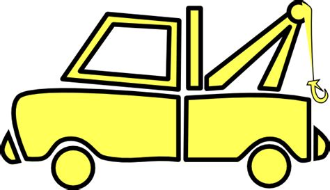 Clipart Tow Truck yellow tow truck clip at clker vector clip royalty free domain
