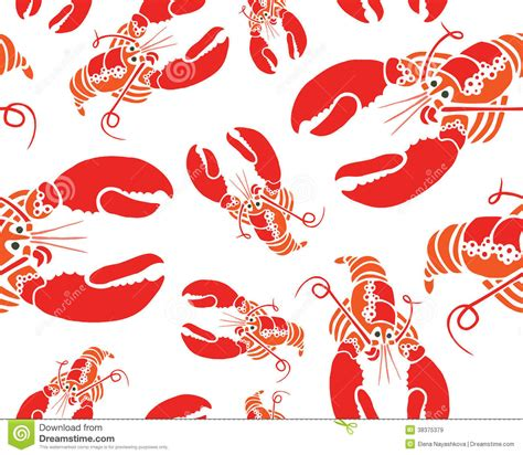 cute lobster pattern lobster seamless pattern royalty free stock images image