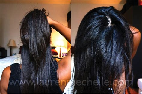 relaxed hair before and after one month relaxer touchup before after photos lauren
