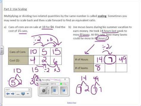 how to do ratio tables 6th grade 1 4 ratio tables