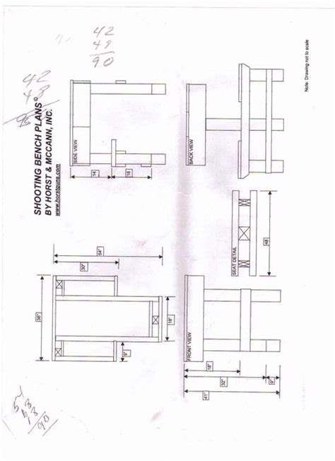 shooting bench dimensions shooting bench plans horst woodideas