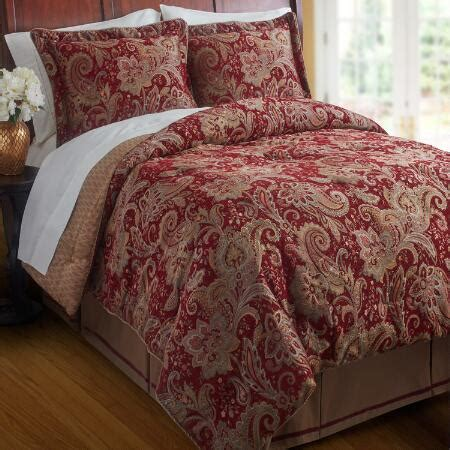 croscill 174 full queen red mystique reversible comforter set
