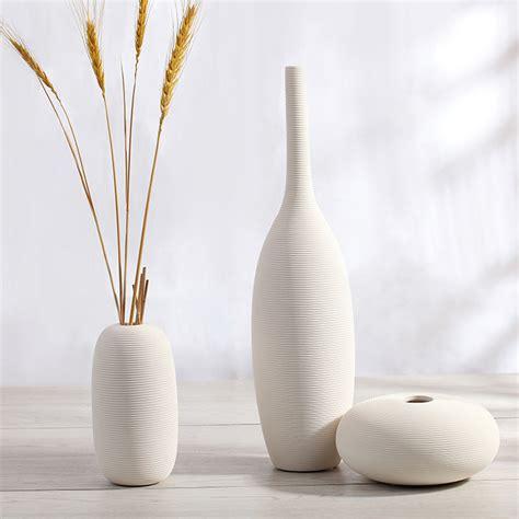White Decorative Vases Simple Modern Porcelain Decorative Vase White Ceramic