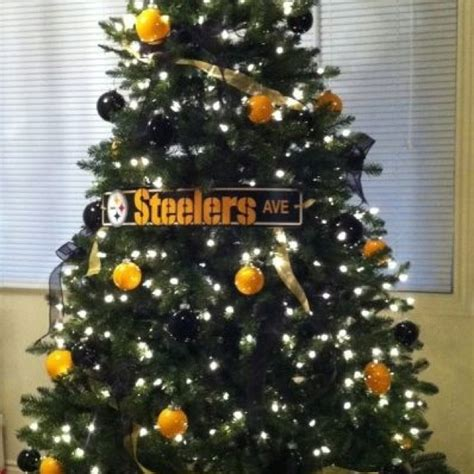 images of a steelers christmas tree i really want to do a small tree decorated in steelers black gold this year in