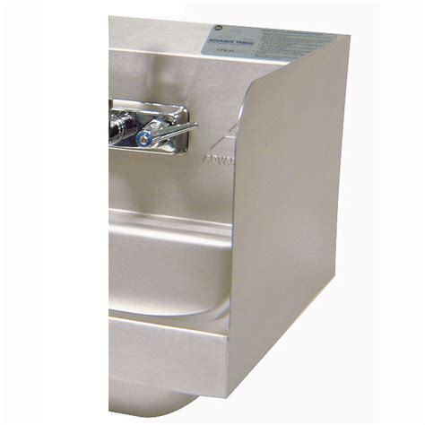 100 kitchen sink splash guard advance tabco 7 ps advance tabco 7 ps 16a 7 75 quot tall welded side splash for