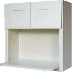 microwave wall cabinet in shaker white with 2 soft