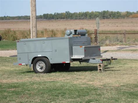 utility bed trailer 8 enclosed utility bed tool trailer w ext mount air tank