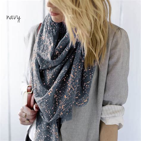 personalised metallic scarf