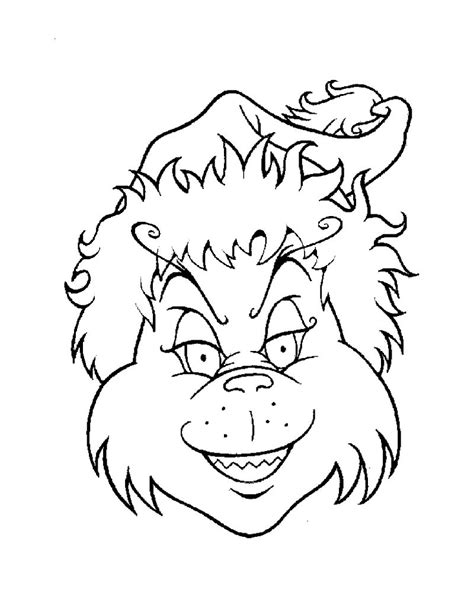 coloring pages of how the grinch stole christmas the grinch s head coloring pages hellokids com