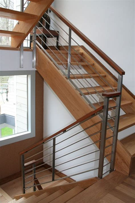 Steel Banister Rails by Stairs Astounding Metal Stair Rails Marvellous Metal