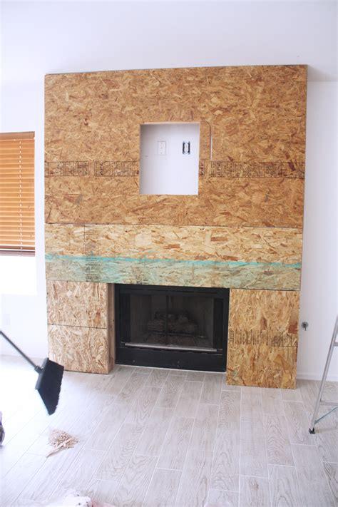 Fireplace With Tv Inside by Diy Reclaimed Wood Fireplace Kristi Murphy Do It