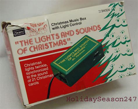 vintage mr christmas lights sounds electric music box