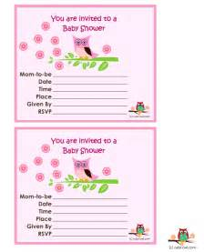 owl baby shower invitations free free printable owl themed baby shower invitations