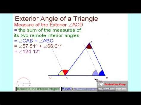 How To Calculate Interior Angles Of A Triangle by Exterior Angle Of A Triangle Mp4