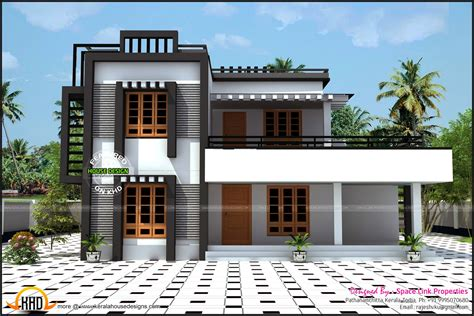 types of house designs 2380 sq ft box type house kerala home design and floor plans