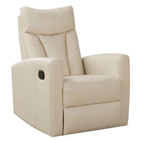 ivory leather recliner modern recliners derek ivory recliner eurway modern